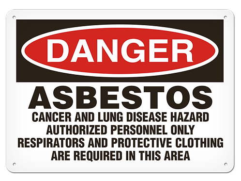 DANGER - Asbestos Cancer and Lung Disease Hazard Safety Sign