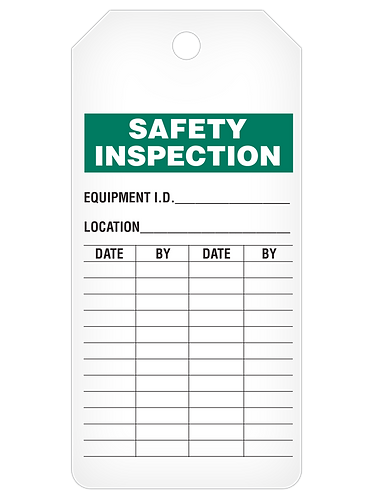 INSPECTION Tag Roll  -  Safety Inspection
