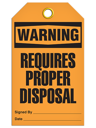 WARNING - Requires Proper Disposal