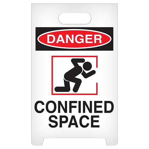 A-Frame Standing Floor Sign - DANGER - Confined Space