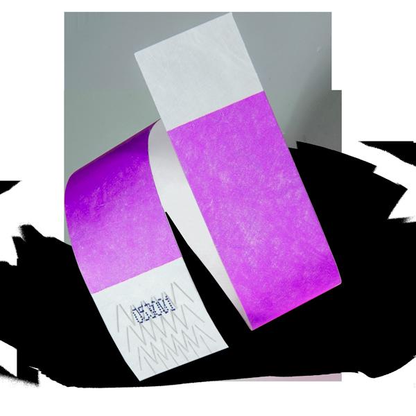 Tyvek® Wristband in Purple