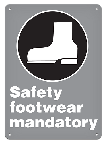 MANDATORY - Safety Footwear Mandatory