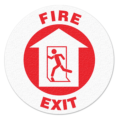 Fire Exit Floor Sign