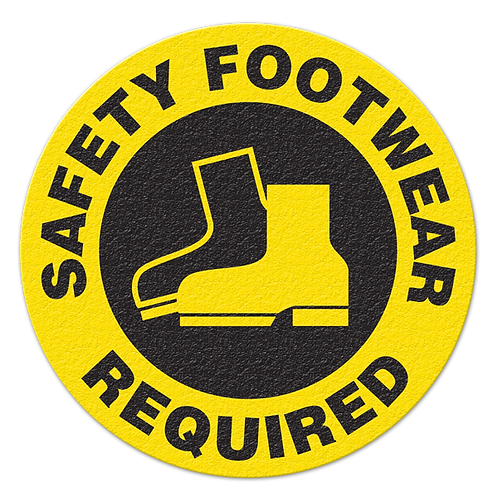 Safety Footwear Required Floor Sign