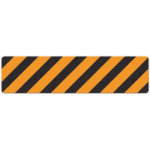 Orange/Black Hazard Stripe Floor Sign