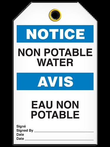 Bilingual NOTICE - NON POTABLE WATER