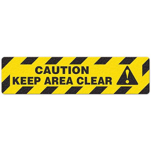 Caution - Keep Area Clear Floor Sign