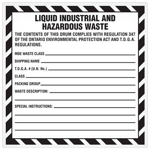 Liquid Industrial and Hazardous Waste