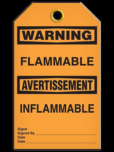 Bilingual WARNING - FLAMMABLE