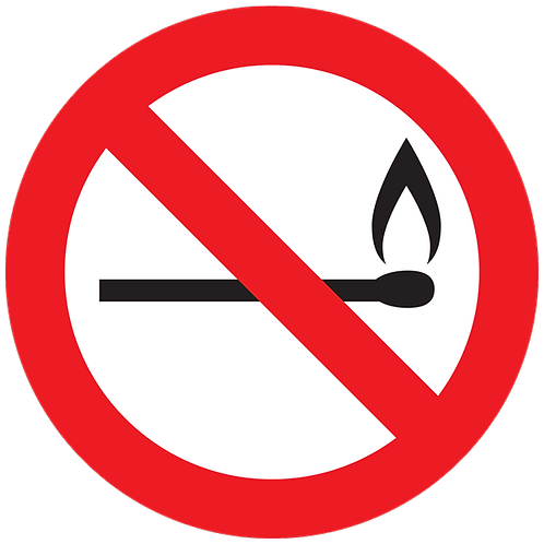 Prohibited - No Flames