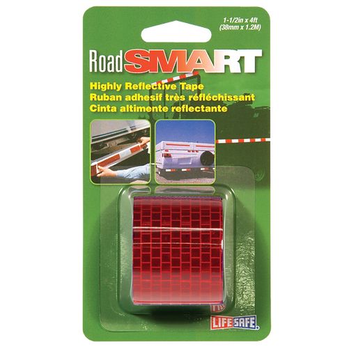 "Road Smart Red Highly Reflective Tape 1.5"" x 4ft"