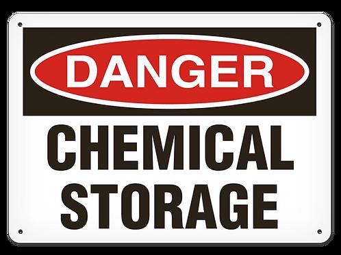 DANGER - Chemical Storage Safety Sign