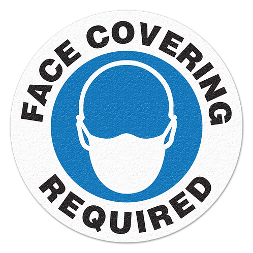 Face Cover Required - Floor Sign