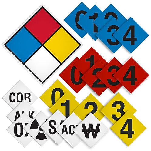 NFPA 704 Diamond Placard