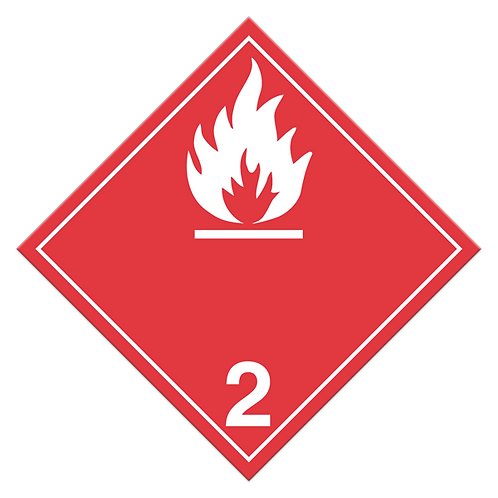 Class 2.1 - Flammable Gases TDG Truck Placards