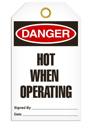 DANGER  -  Hot When Operating