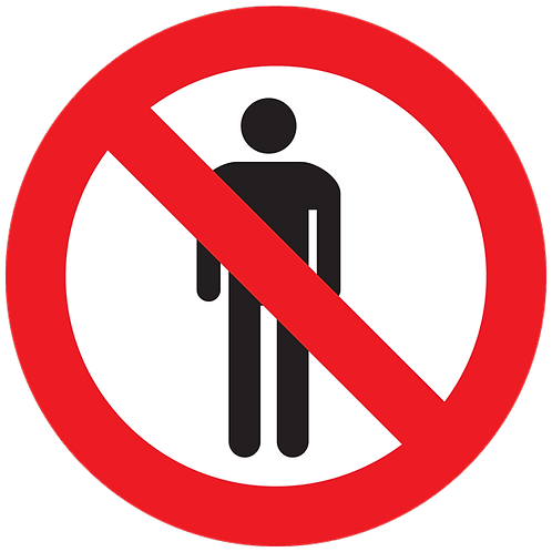 PROHIBITED - No People Allowed