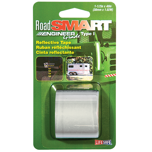 """Road Smart Silver Engineer Grade Reflective Tape 1.5"""" x 40"""""""