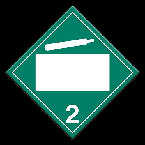 Class 2.2 - Non-Flammable & Non-Toxic Gasses