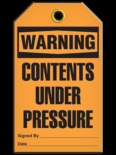 WARNING - Contents Under Pressure
