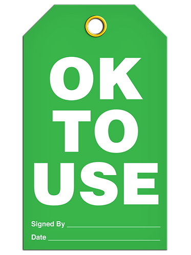 Inspection  -  OK To Use