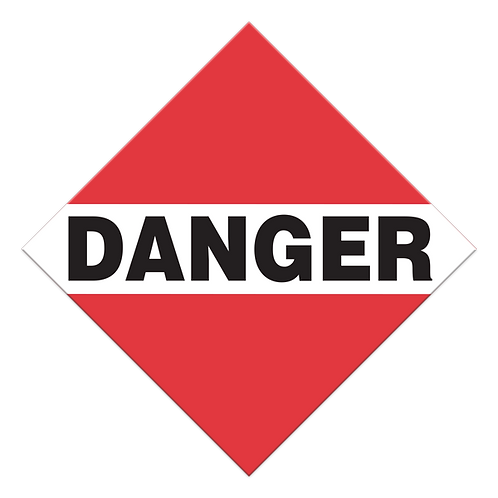 Danger, Mixed Loads Truck Placards