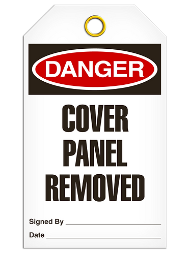 DANGER  -  Cover Panel Removed