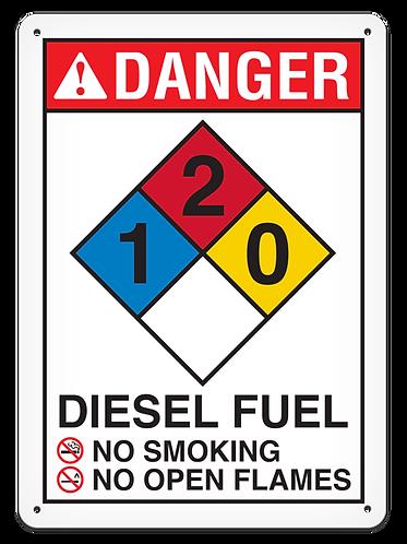 NFPA - DANGER Diesel Fuel