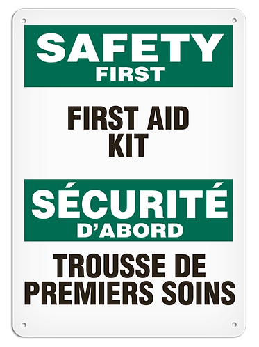 BILINGUAL SAFETY FIRST - First Aid Kit