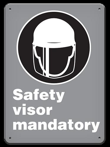 MANDATORY - Safety Visor Mandatory