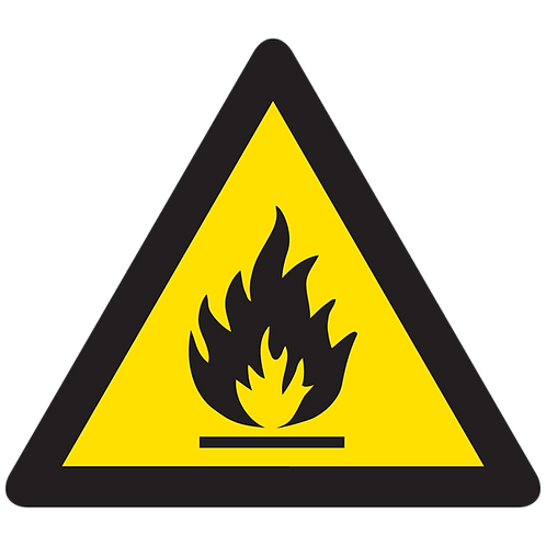 WARNING - Flammable Material