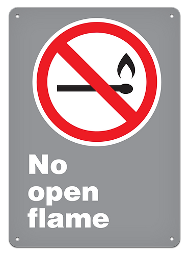 PROHIBITION - No Open Flame