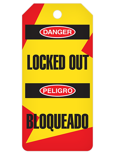 LOCKOUT Tag Roll  -  Locked Out (English/Spanish)