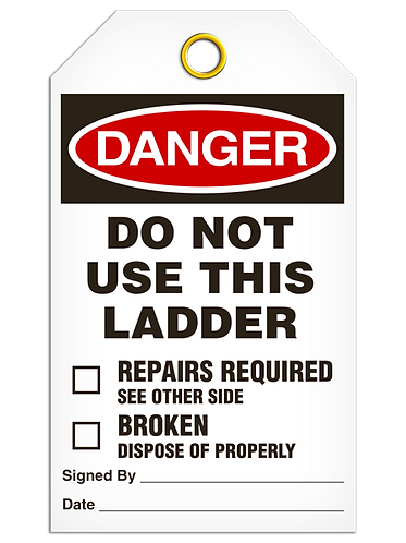 DANGER  -  Do Not Use This Ladder