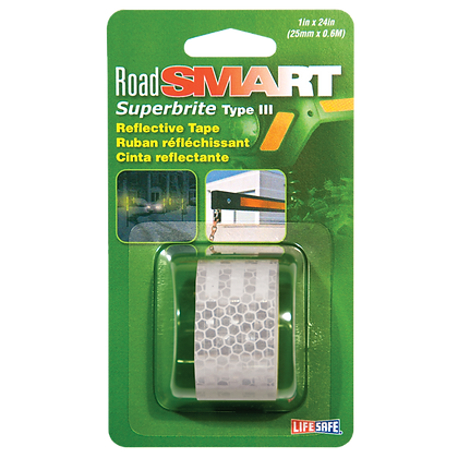 "Road Smart Superbrite Type III Reflective Tape 1"" x 24"""