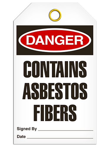 DANGER - Contains Asbestos Fibers