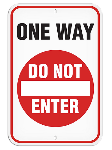 PARKING LOT SIGN - One Way Do Not Enter