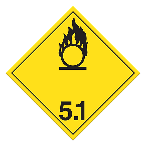 Class 5.1 - Oxidizing Substances Truck Placards