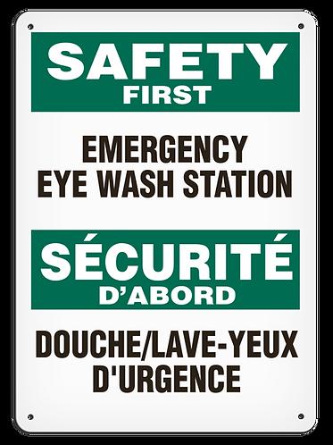 BILINGUAL SAFETY FIRST - Emergency Eye Wash Station