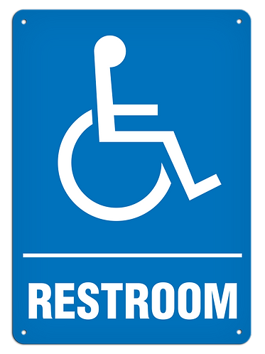 Restroom Accessible Sign