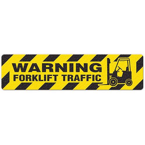 Warning - Forklift Traffic Floor Sign