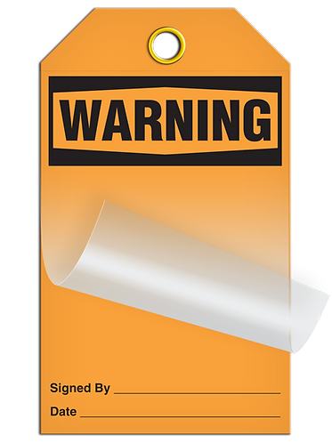 Self Laminating - WARNING