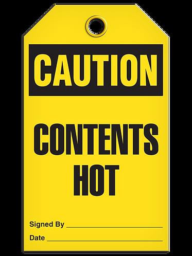 CAUTION - Contents Hot