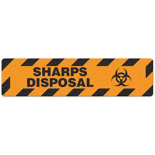 Sharps Disposal Floor Sign