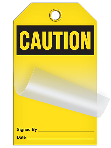 Self Laminating - CAUTION