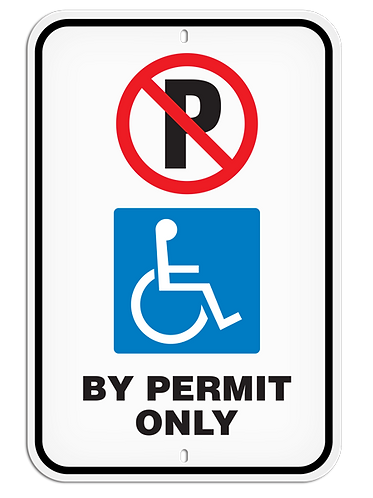 PARKING LOT SIGN - Handicap Permit Only
