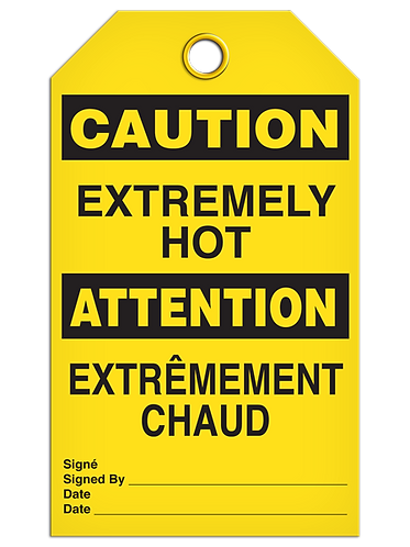 Bilingual CAUTION - EXTREMELY HOT