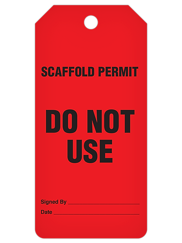 INSPECTION Tag Roll  -  Scaffold Do Not Use