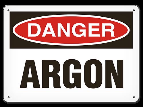 DANGER - Argon Safety Sign