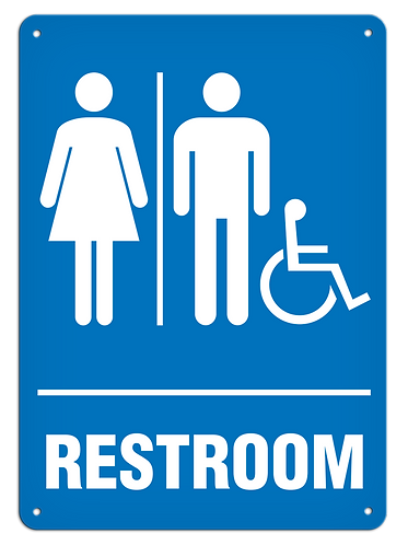 Restroom Female/Male/Accessible Sign